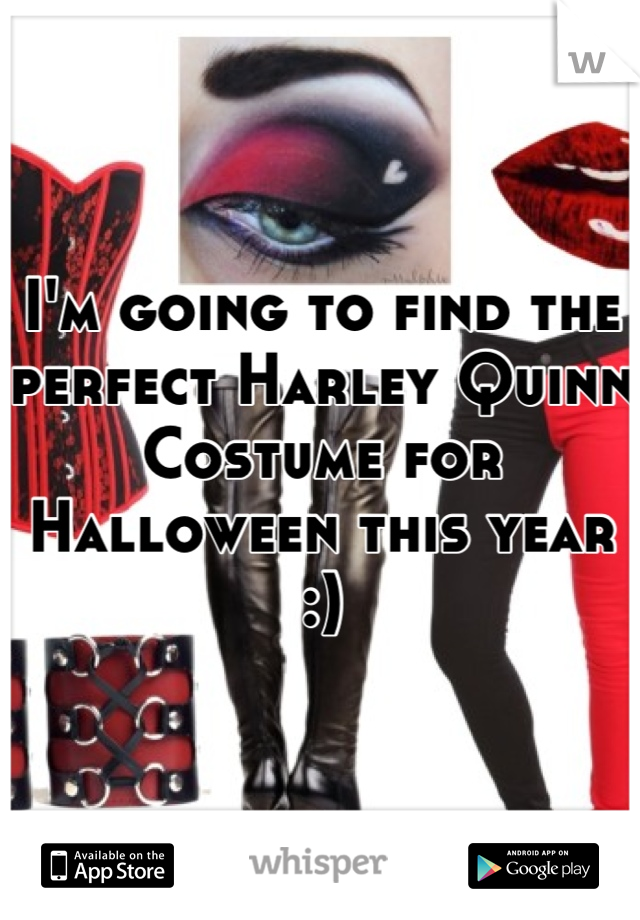 I'm going to find the perfect Harley Quinn Costume for Halloween this year :)