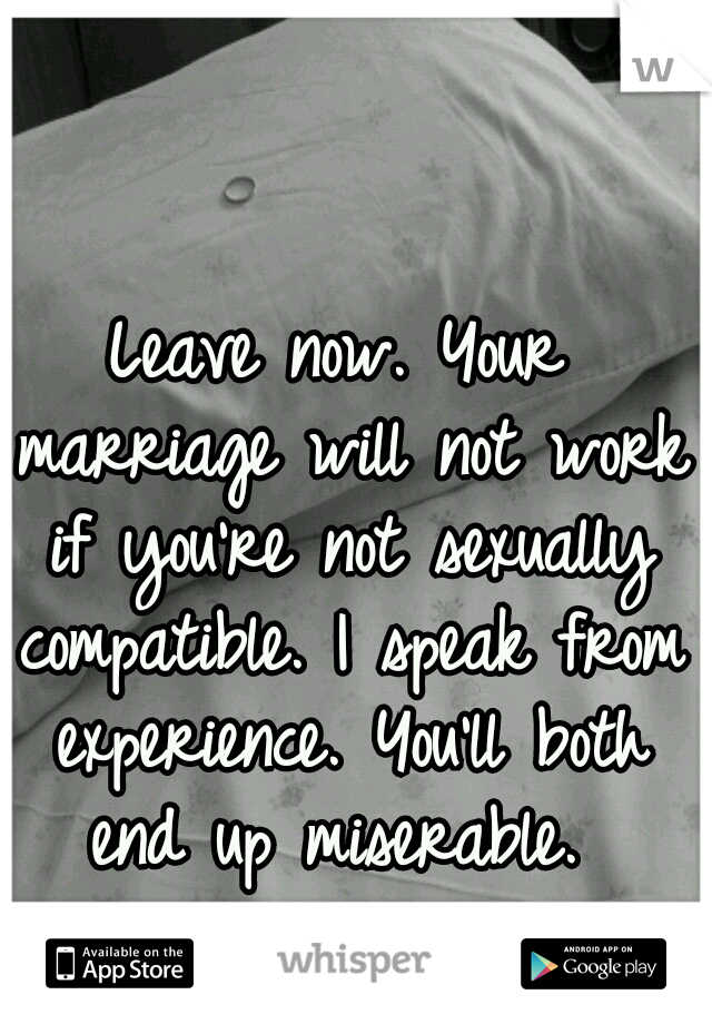 not sexually compatible