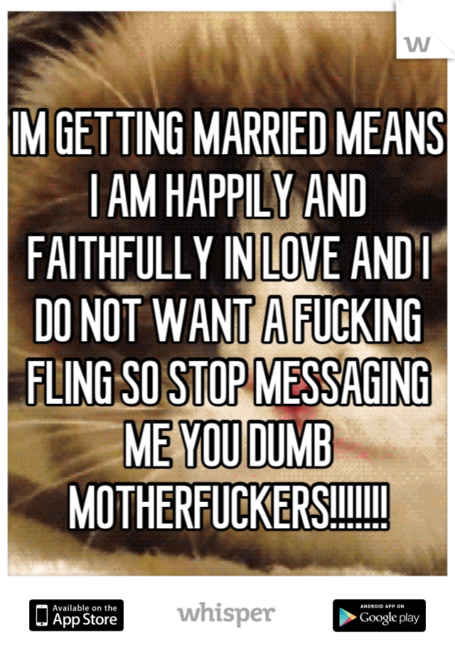 getting married means