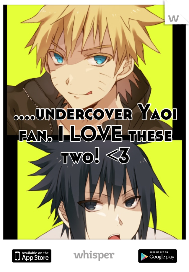 ....undercover Yaoi fan. I LOVE these two! <3