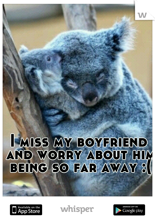 I miss my boyfriend and worry about him being so far away :(