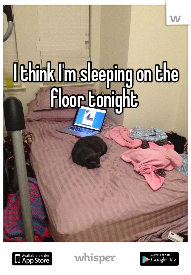I think I'm sleeping on the floor tonight