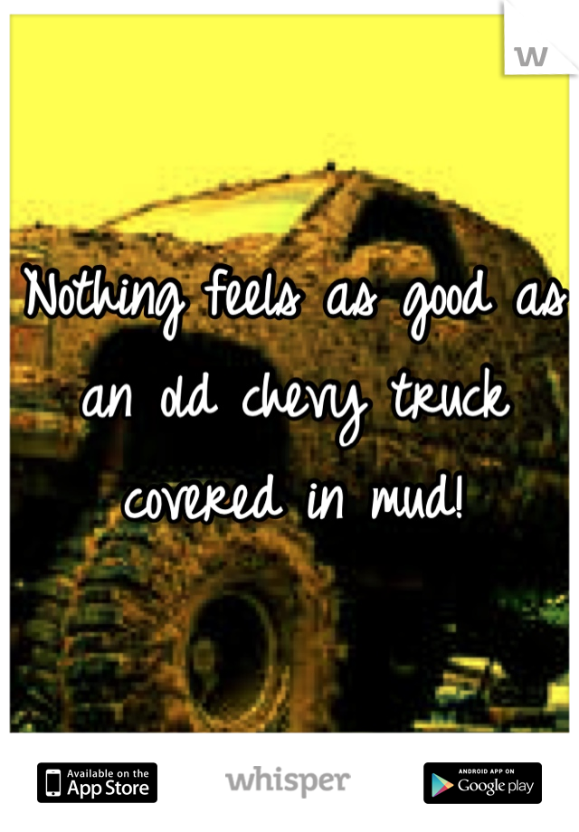 Nothing feels as good as an old chevy truck covered in mud!
