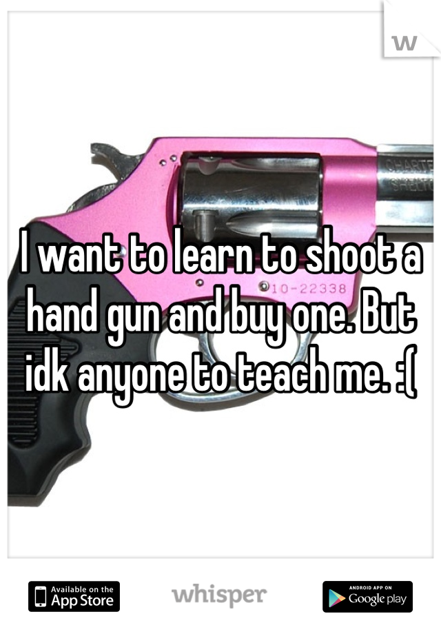 I want to learn to shoot a hand gun and buy one. But idk anyone to teach me. :(
