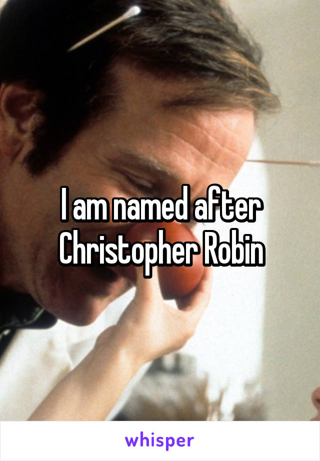 I am named after Christopher Robin