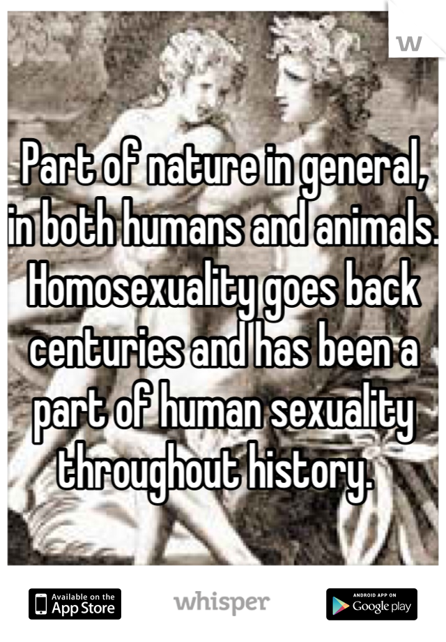 Human sexuality throughout history