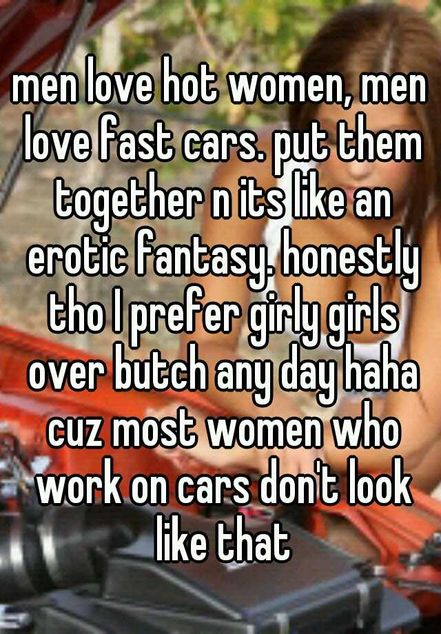 Very fast cars fantasy women question interesting