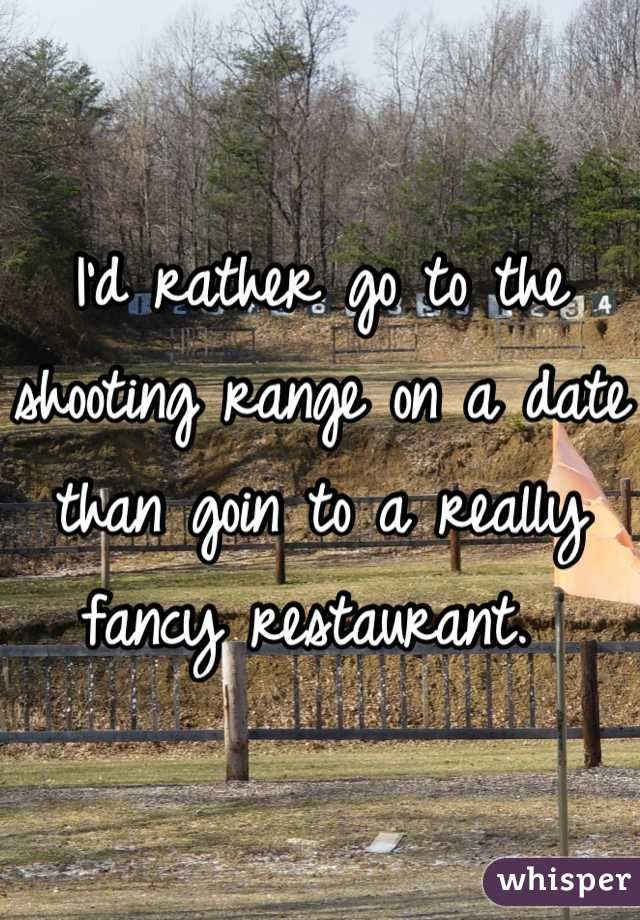 Shooting range dating