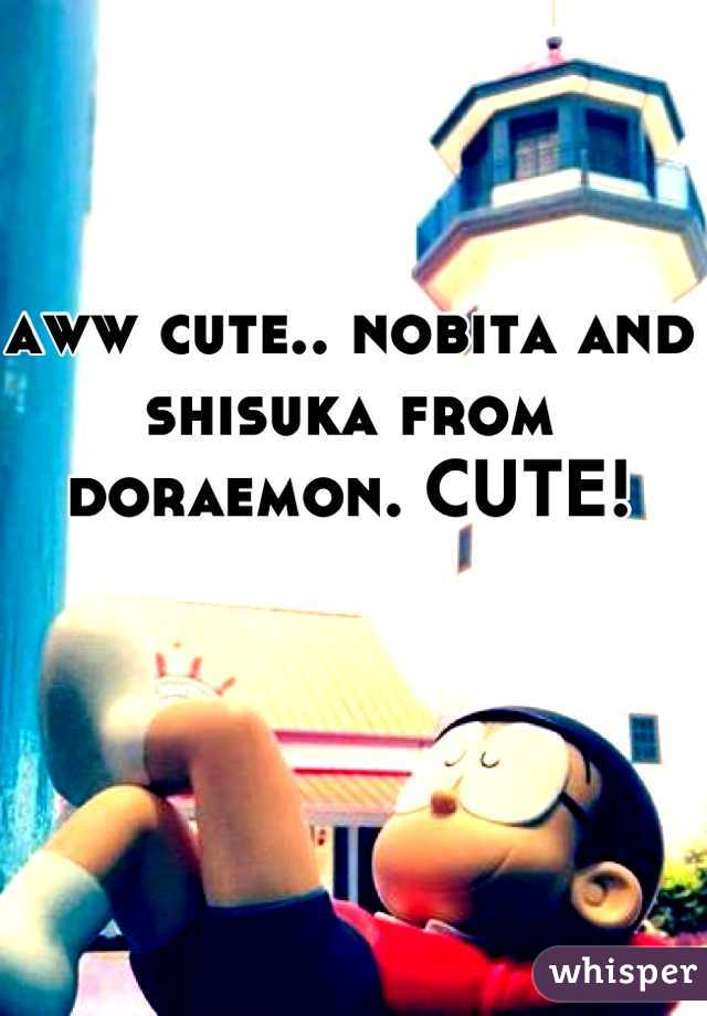 aww cute nobita and shisuka from doraemon cute