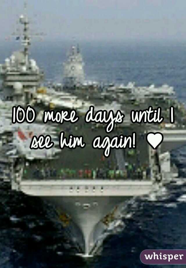 100 more days until I see him again! ♥