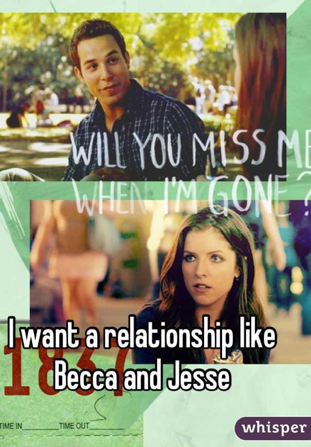 I want a relationship like Becca and Jesse