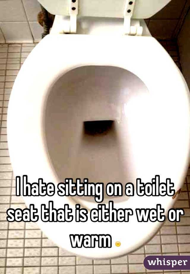 I hate sitting on a toilet seat that is either wet or warm 😕