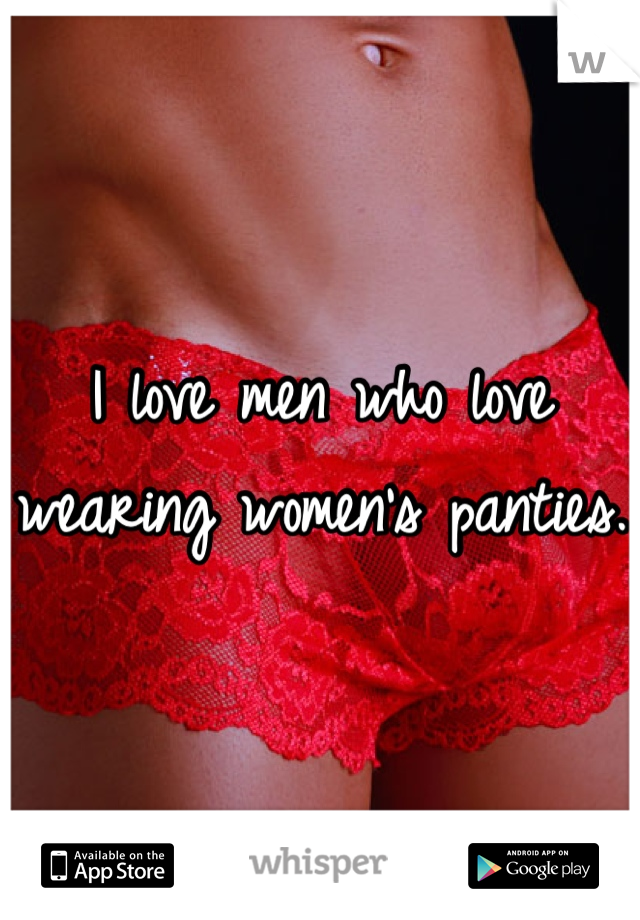 wearing panties Men