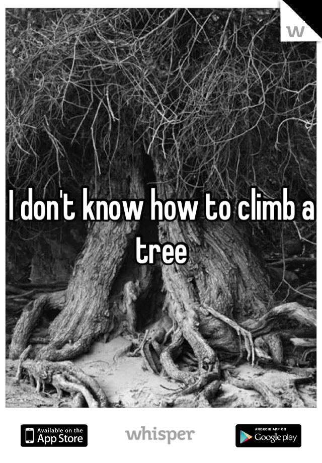 I don't know how to climb a tree
