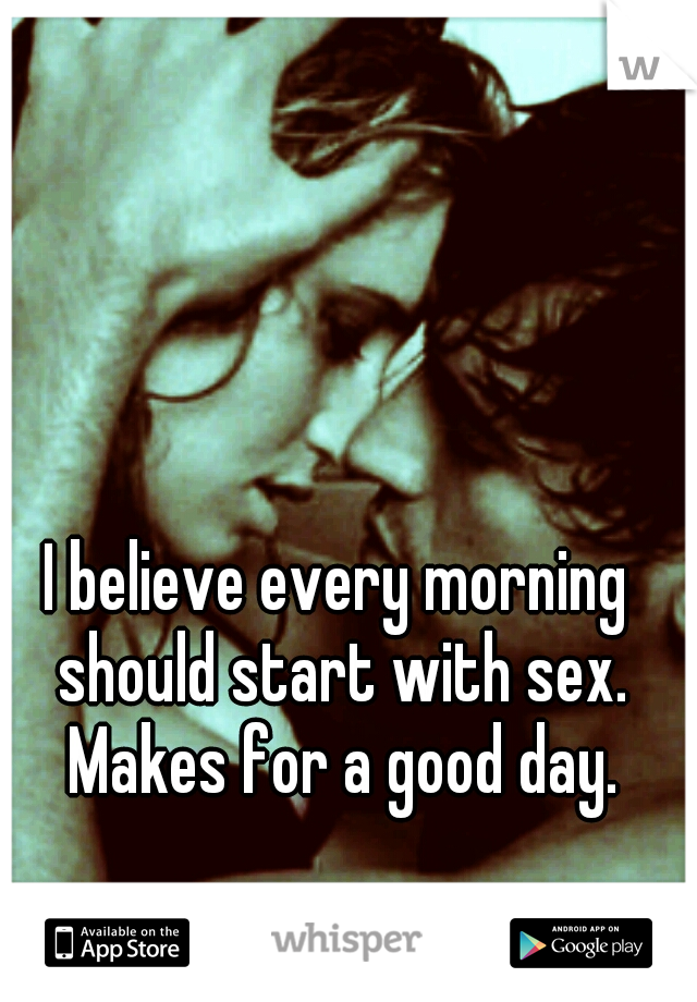 How to start morning sex