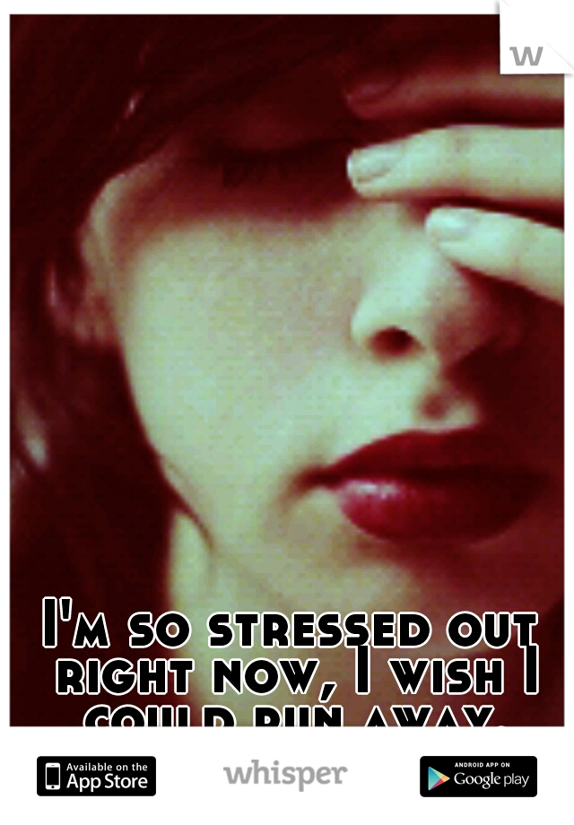 I'm so stressed out right now, I wish I could run away.