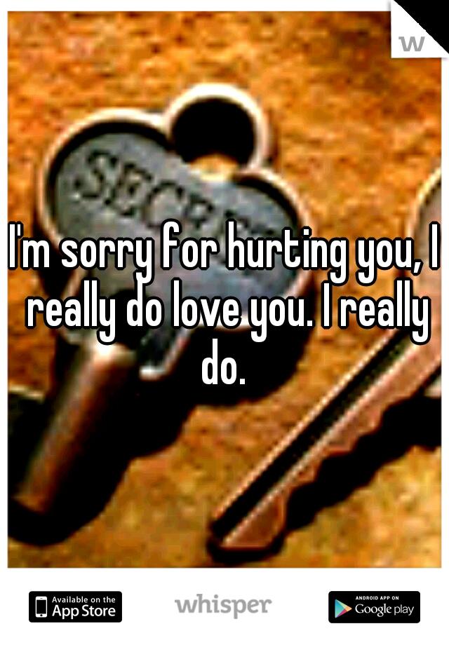 I'm sorry for hurting you, I really do love you. I really do.