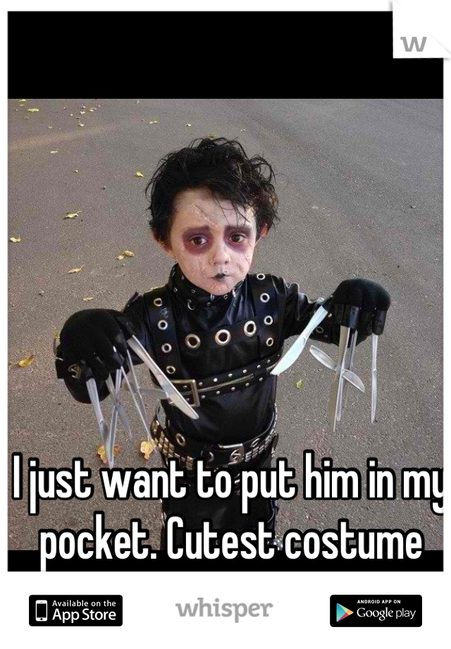 I just want to put him in my pocket. Cutest costume I've ever seen.