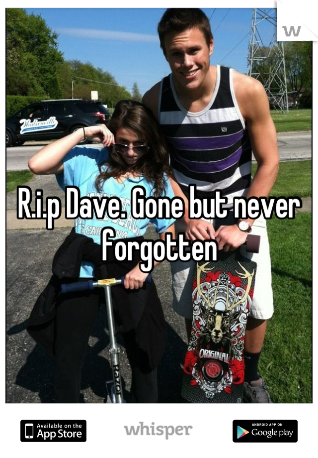 R.i.p Dave. Gone but never forgotten