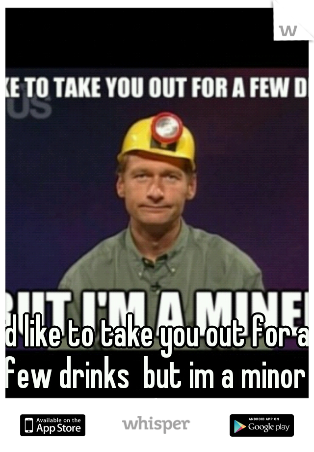 id like to take you out for a few drinks  but im a minor  (;