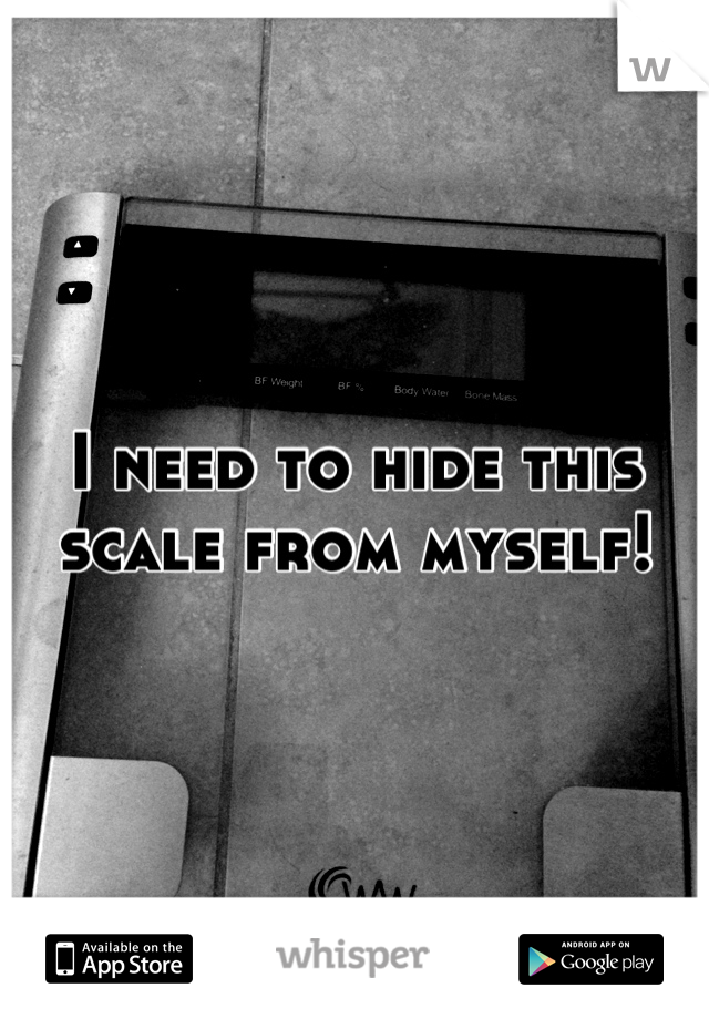 I need to hide this scale from myself!