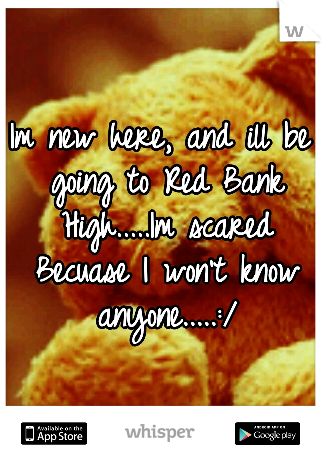 Im new here, and ill be going to Red Bank High.....Im scared Becuase I won't know anyone.....:/