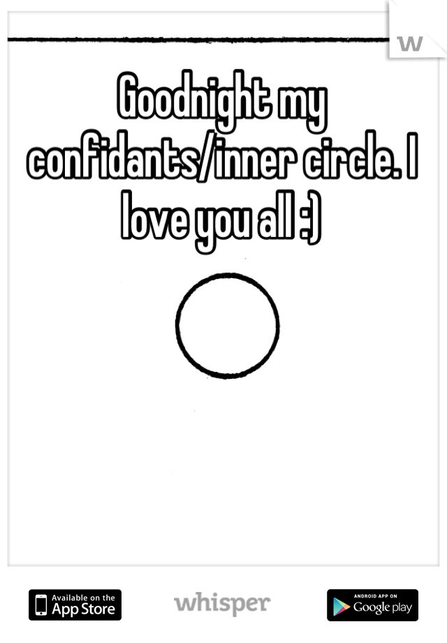 Goodnight my confidants/inner circle. I love you all :)