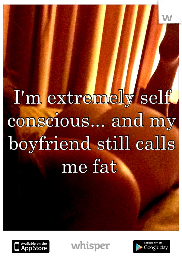 I'm extremely self conscious... and my boyfriend still calls me fat