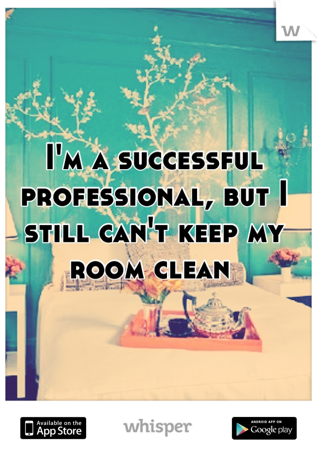 I'm a successful professional, but I still can't keep my room clean