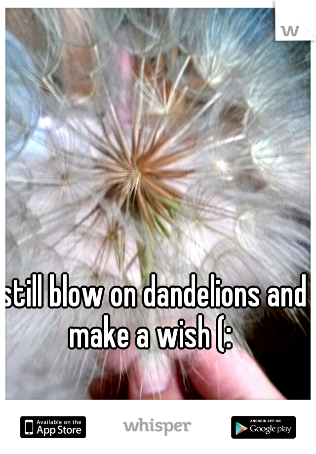 I still blow on dandelions and make a wish (: