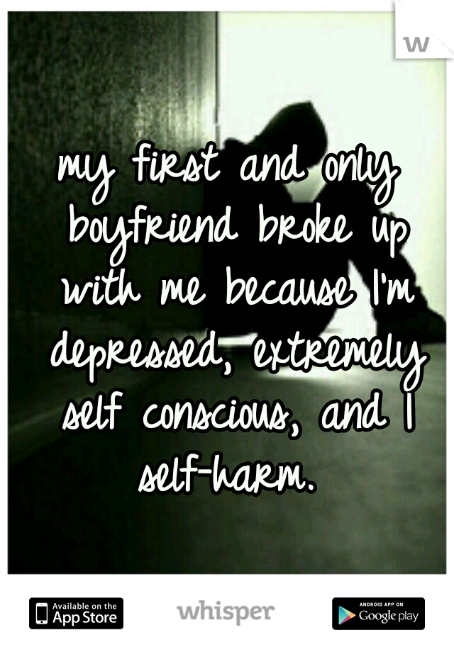 my first and only boyfriend broke up with me because I'm depressed, extremely self conscious, and I self-harm.