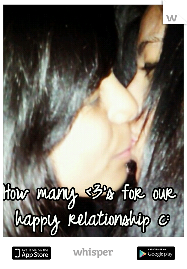How many <3's for our happy relationship c: