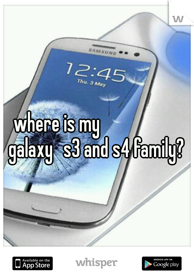 where is my             galaxy  s3 and s4 family?