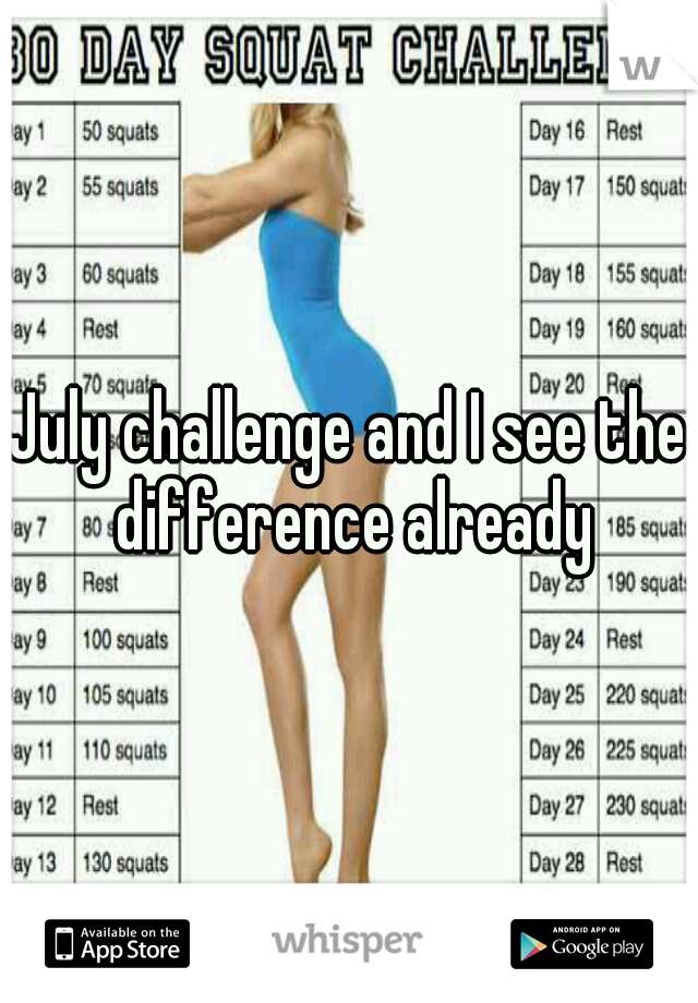 July challenge and I see the difference already
