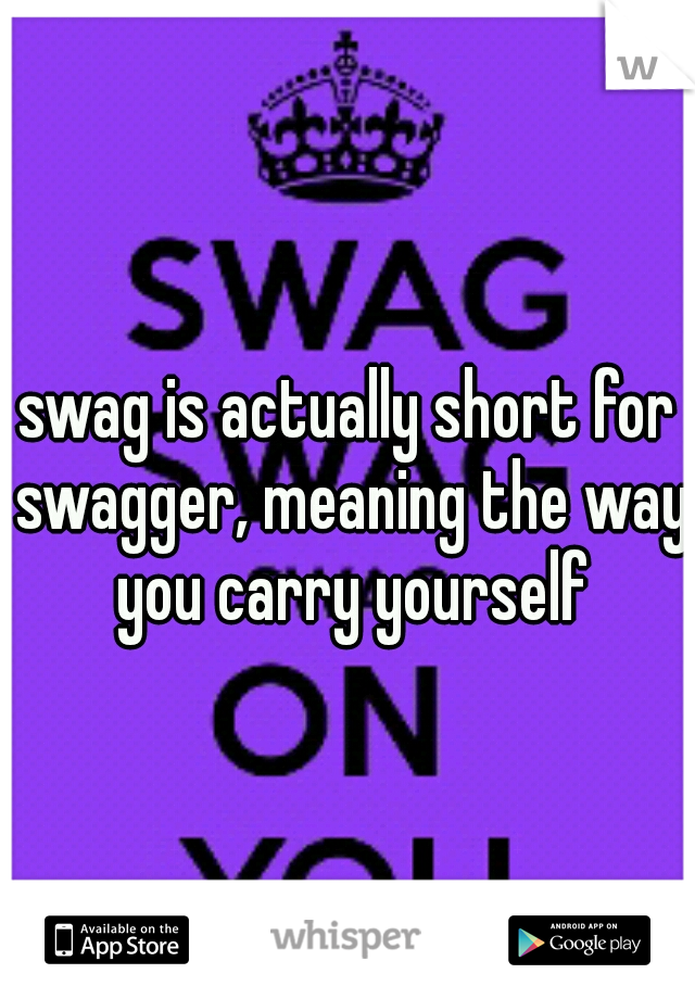 Swagger meaning