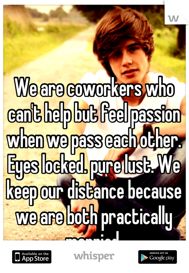 We Are Coworkers Who Cant Help But Feel Passion When We Pass Each