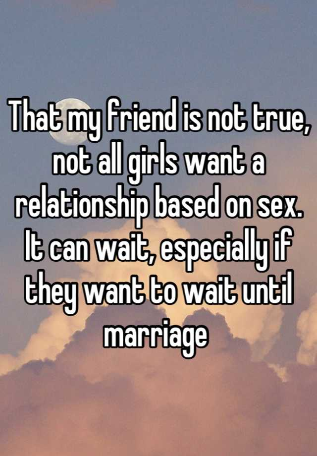 Is my relationship based on sex