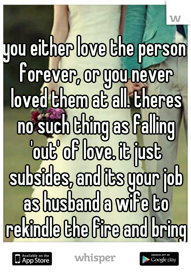 Falling out of love with wife