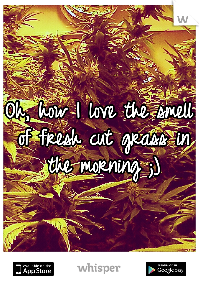 Oh, how I love the smell of fresh cut grass in the morning ;)
