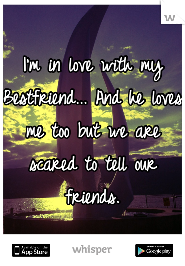 I'm in love with my Bestfriend... And he loves me too but we are scared to tell our friends.