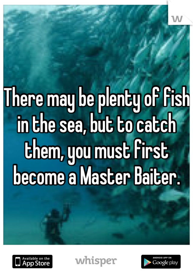 There may be plenty of fish in the sea, but to catch them, you must first become a Master Baiter.