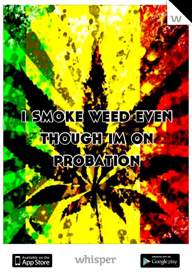 i smoke weed even though im on probation