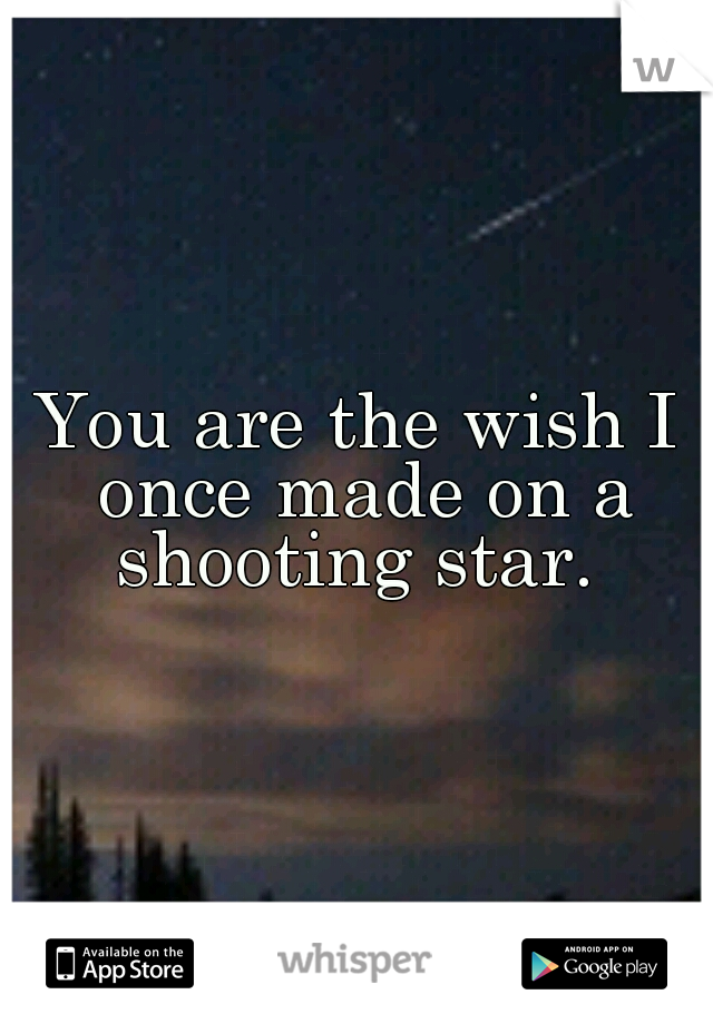 you are the wish i once made on a shooting star