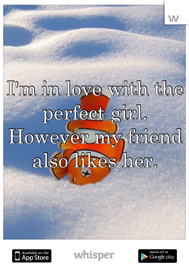 I'm in love with the perfect girl.  However my friend also likes her.