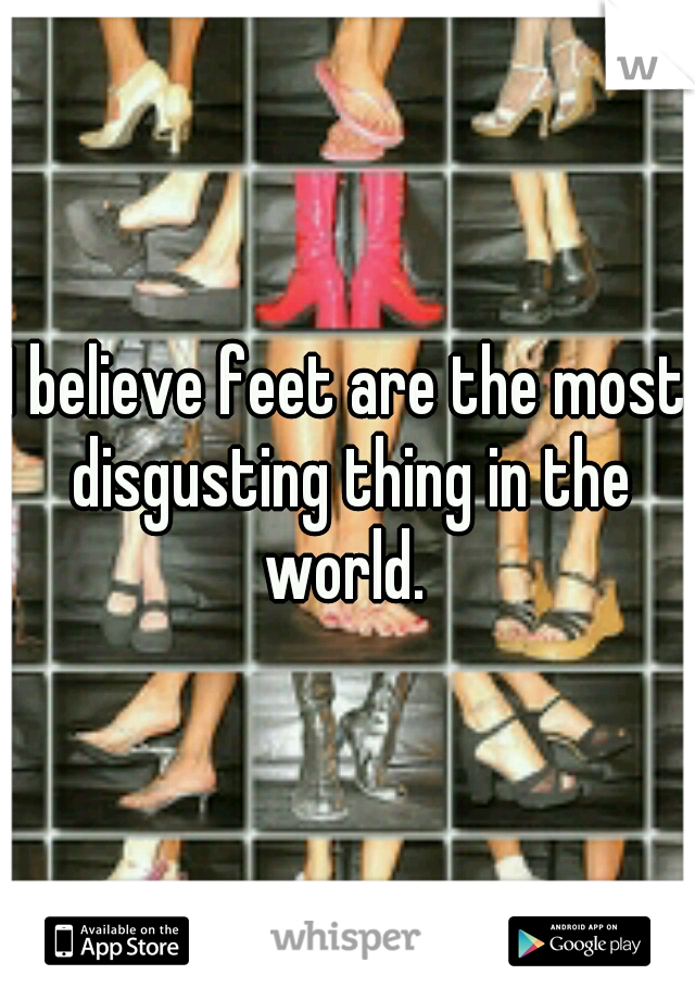 I believe feet are the most disgusting thing in the world.