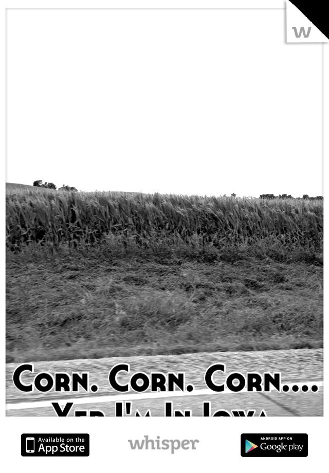 Corn. Corn. Corn.... Yep I'm In Iowa.