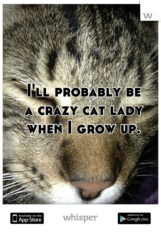 I'll probably be a crazy cat lady when I grow up.