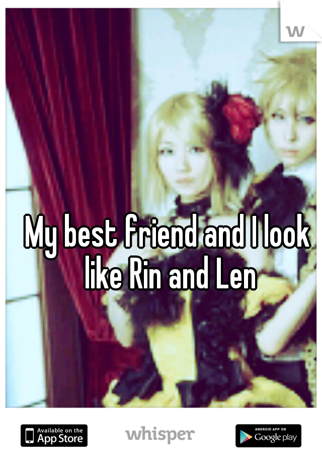 My best friend and I look like Rin and Len