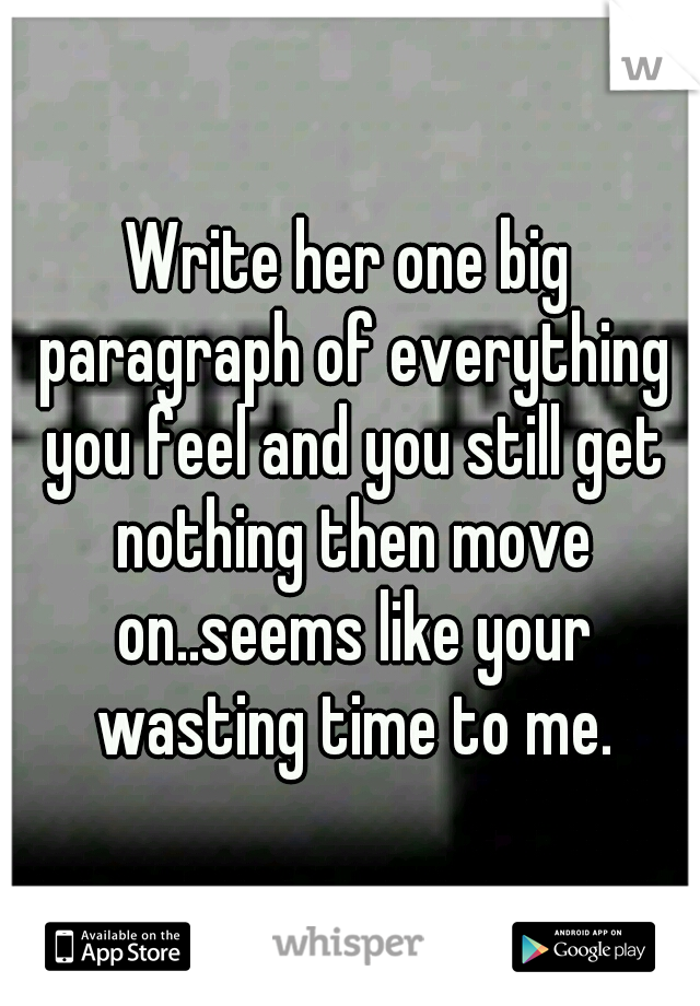paragraph about wasting time