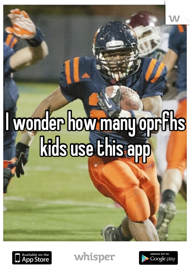 I wonder how many oprfhs kids use this app